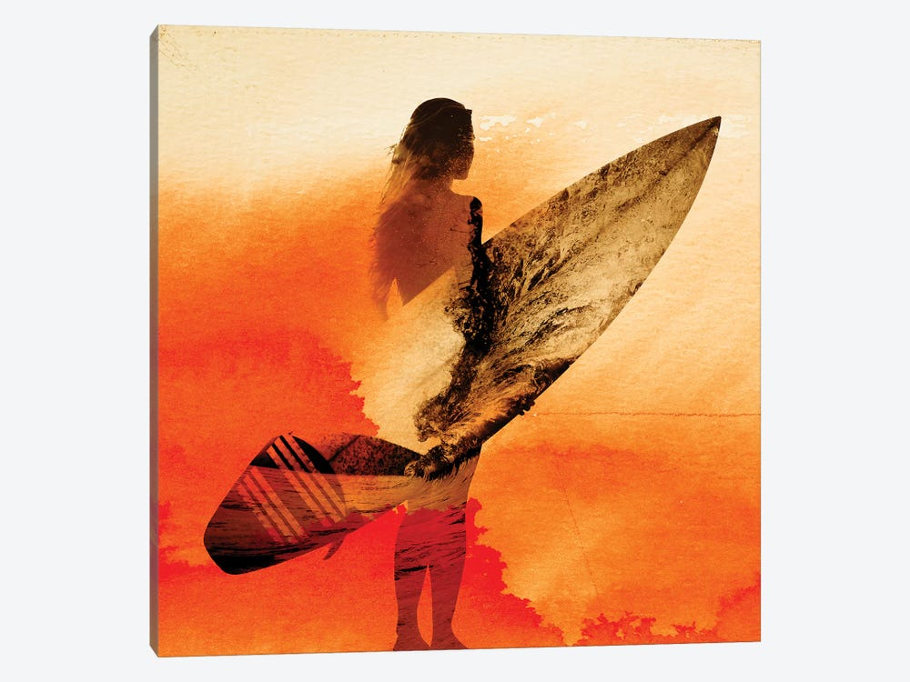 Surfer's Morning by Andreas Lie 1-piece Canvas Wall Art