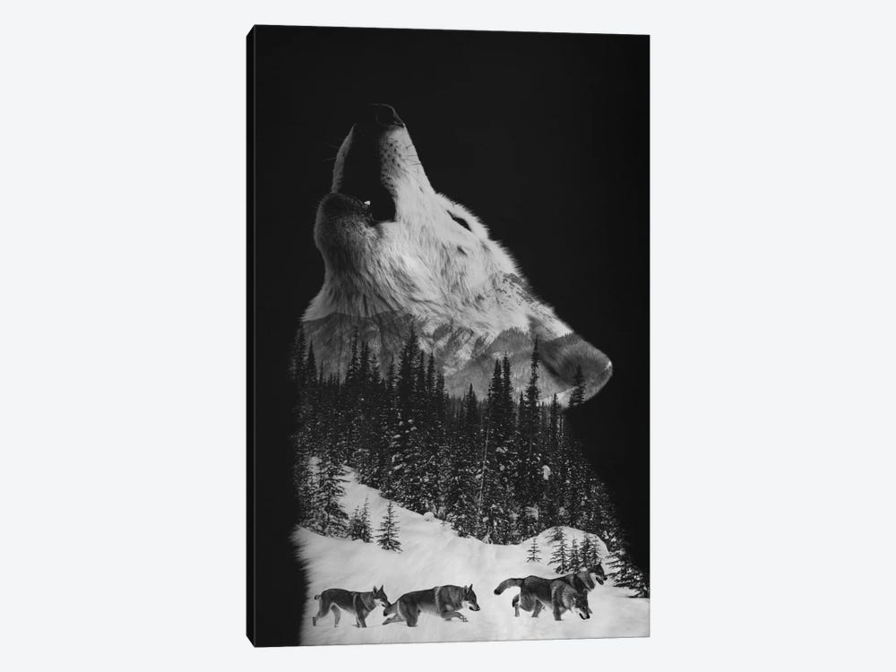 Wolfpack by Andreas Lie 1-piece Canvas Art Print