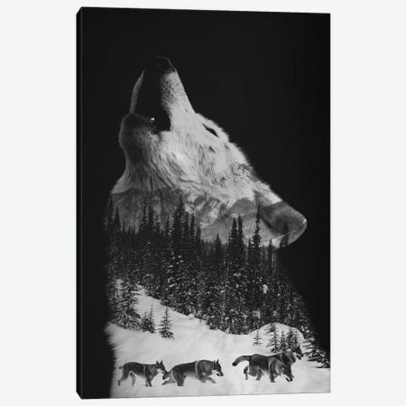 Wolfpack Canvas Print #ALE199} by Andreas Lie Art Print