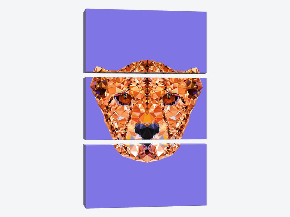 Cheetah by Andreas Lie 3-piece Canvas Art