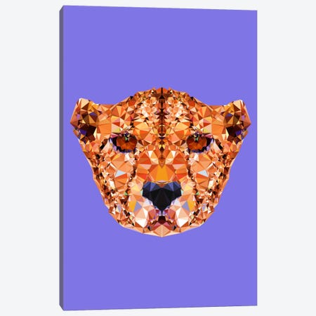 Cheetah Canvas Print #ALE201} by Andreas Lie Art Print