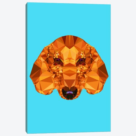 Geometric Dachshund Canvas Print #ALE209} by Andreas Lie Art Print