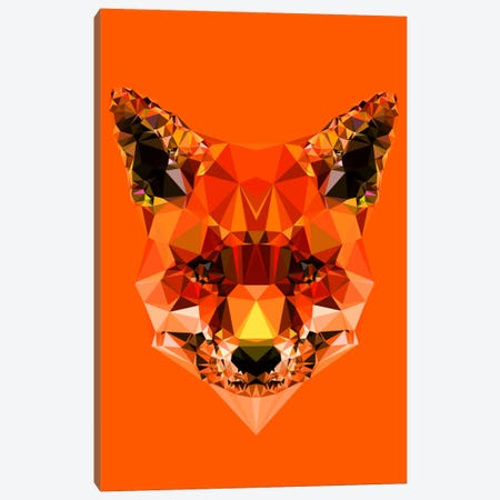 Geometric Fox Canvas Print #ALE210} by Andreas Lie Canvas Artwork
