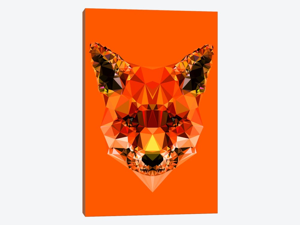 Geometric Fox by Andreas Lie 1-piece Canvas Wall Art