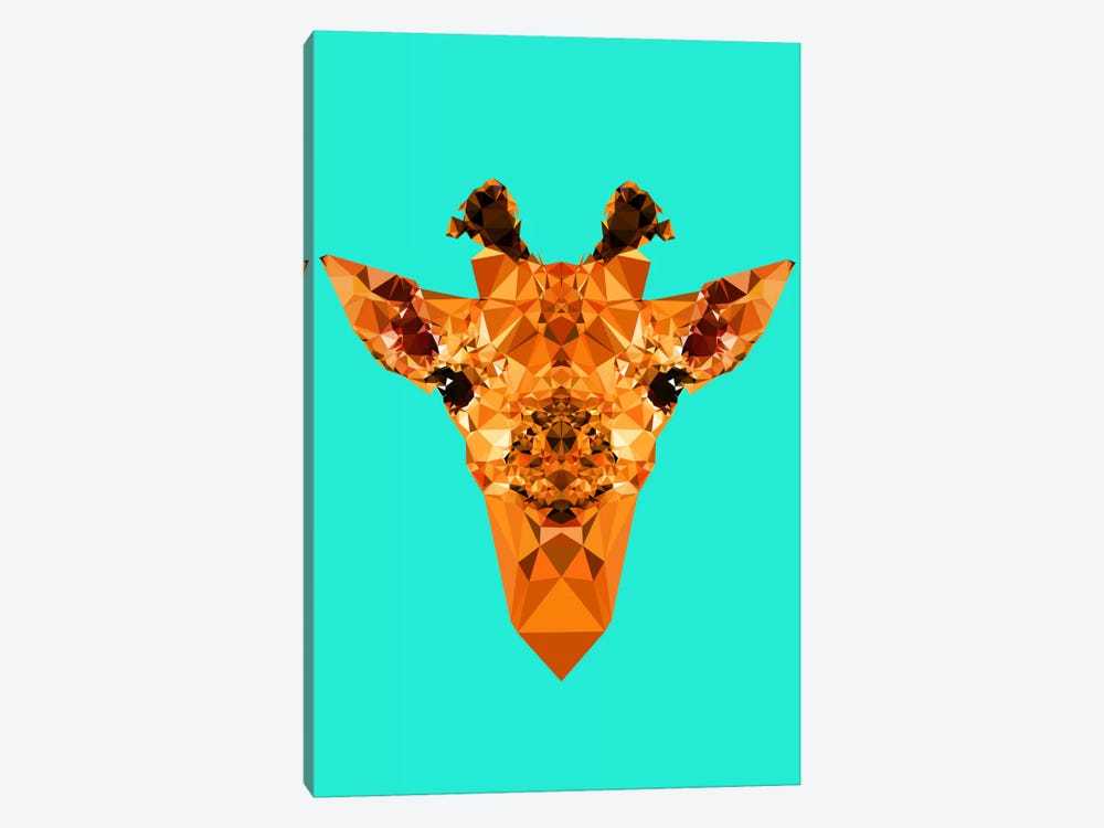 Geometric Giraffe by Andreas Lie 1-piece Canvas Art Print