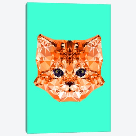 Geometric Kitten Canvas Print #ALE212} by Andreas Lie Canvas Artwork