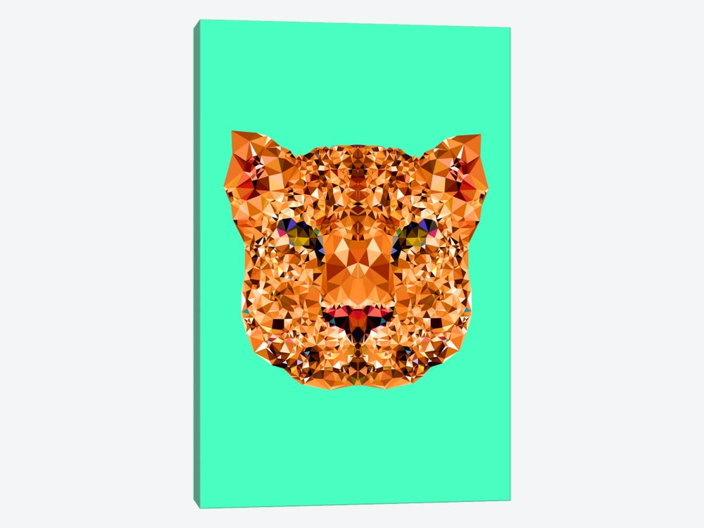 Geometric Leopard by Andreas Lie 1-piece Canvas Print