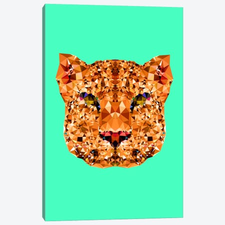 Geometric Leopard Canvas Print #ALE213} by Andreas Lie Canvas Artwork