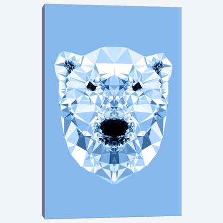 Geometric Polar Bear Canvas Print #ALE214} by Andreas Lie Art Print
