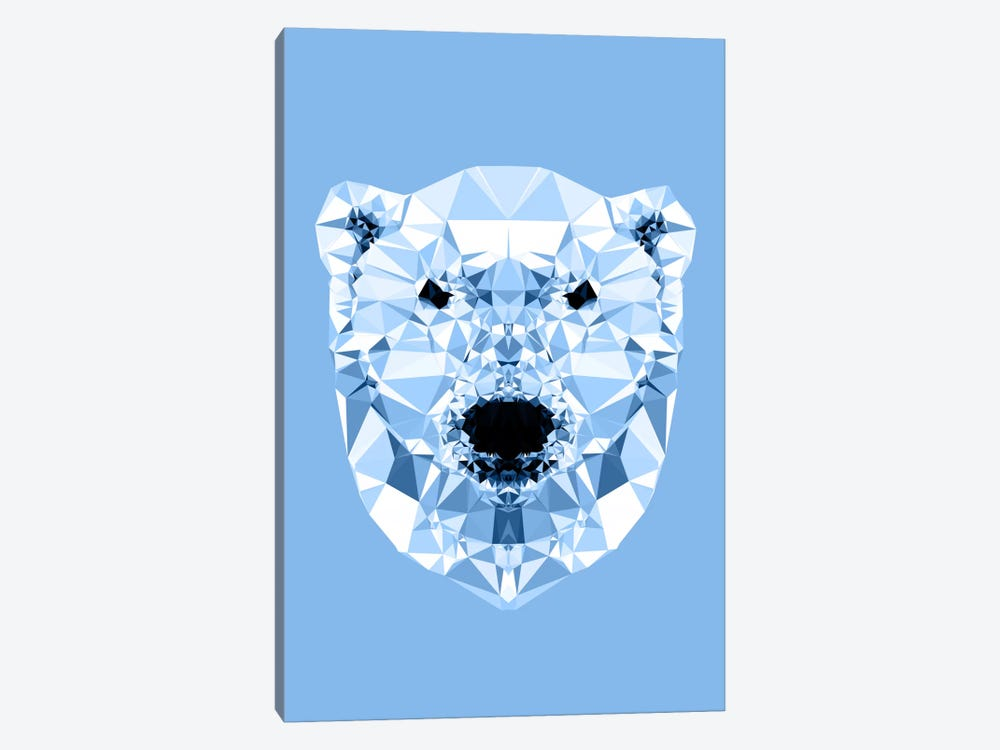 Geometric Polar Bear by Andreas Lie 1-piece Canvas Wall Art