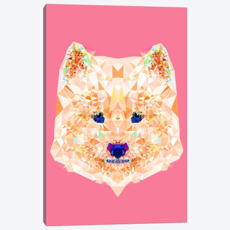 Geometric Samoyed Canvas Print #ALE215} by Andreas Lie Canvas Print