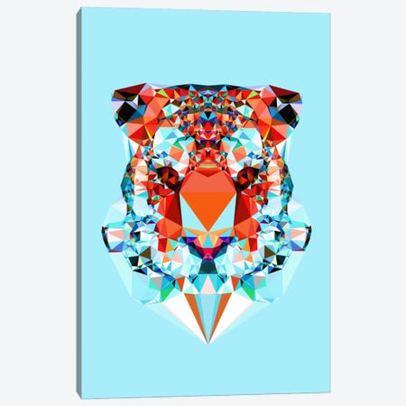 Geometric Tiger Canvas Print #ALE216} by Andreas Lie Art Print