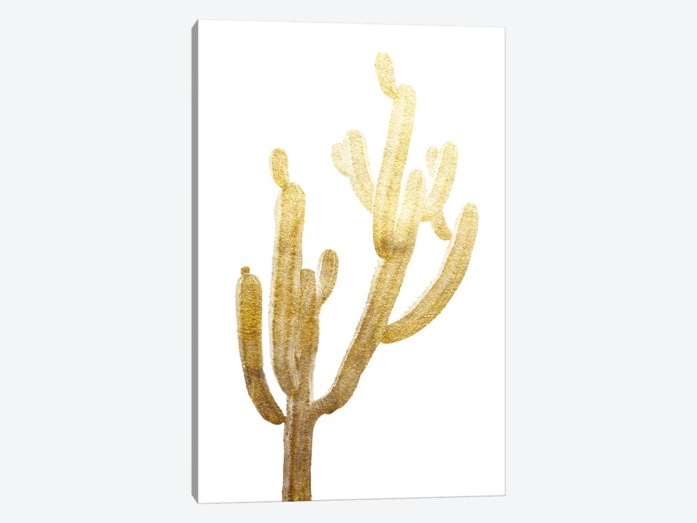 Golden Cactus by Andreas Lie 1-piece Canvas Art Print