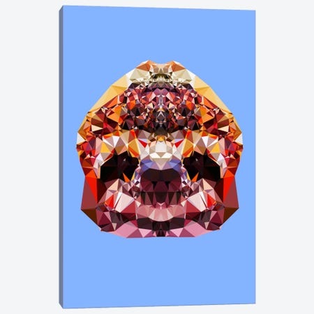 Sloth Canvas Print #ALE225} by Andreas Lie Canvas Wall Art