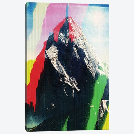 Mountain Glitch I Canvas Print #ALE246} by Andreas Lie Canvas Art