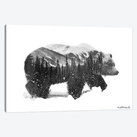 Black & White Bear II Canvas Print #ALE251} by Andreas Lie Canvas Art