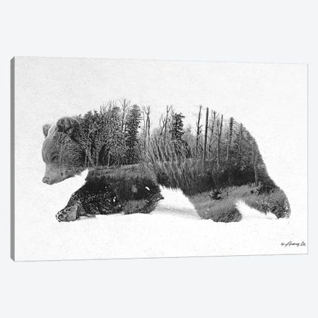Black & White Bear IV Canvas Print #ALE253} by Andreas Lie Canvas Wall Art