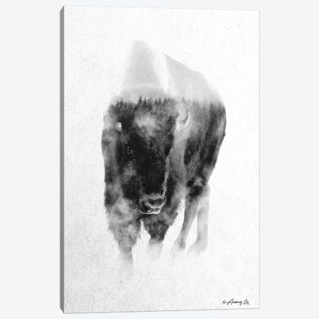 Black & White Buffalo I Canvas Print #ALE258} by Andreas Lie Canvas Wall Art