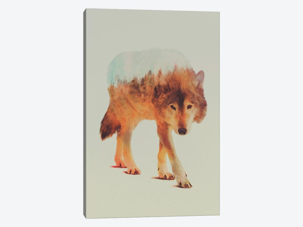 Wolf in the Woods II by Andreas Lie 1-piece Art Print