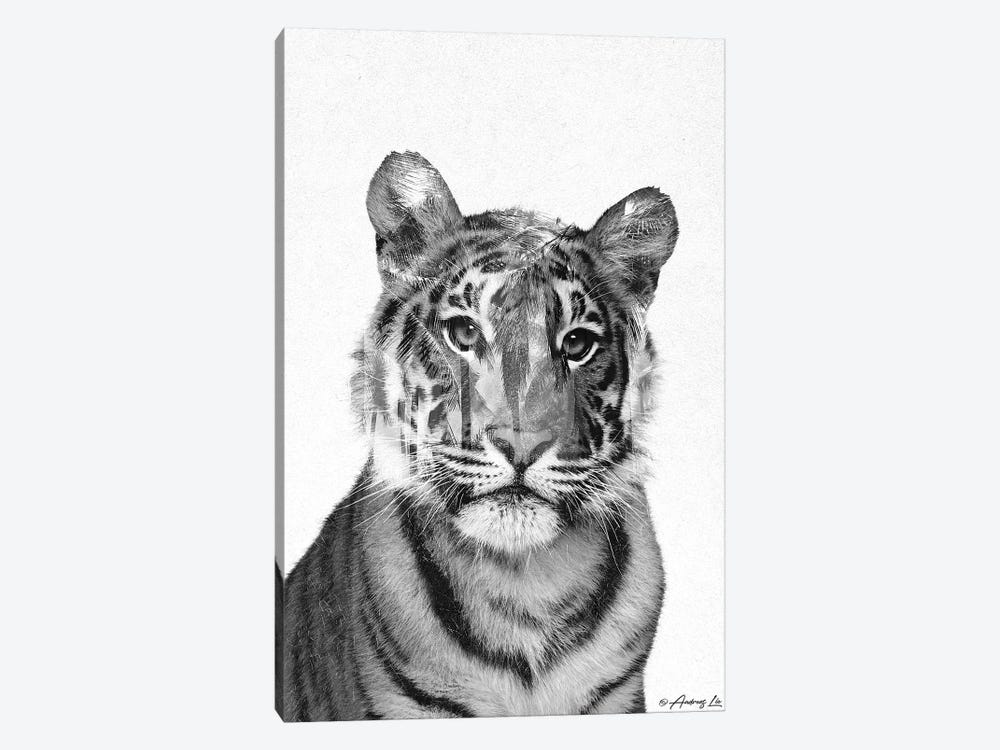 Black & White Tiger by Andreas Lie 1-piece Art Print