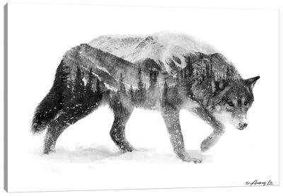 Black & White Wolf I Canvas Art Print