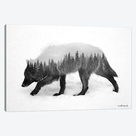 Black & White Wolf II Canvas Print #ALE274} by Andreas Lie Canvas Print