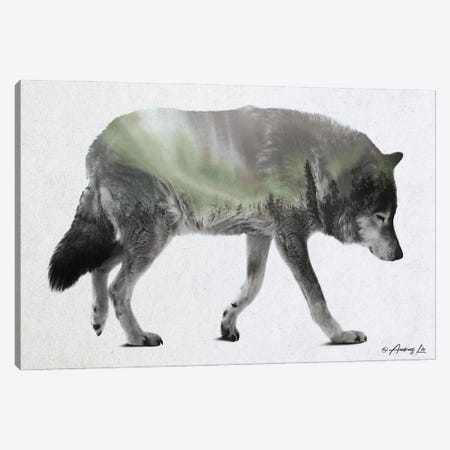 Wolf Walk Canvas Print #ALE287} by Andreas Lie Canvas Artwork