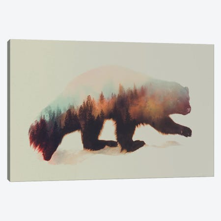 Wolverine I Canvas Print #ALE28} by Andreas Lie Canvas Art