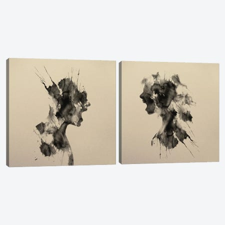 Scream Diptych Canvas Print Set #ALE2HSET001} by Andreas Lie Canvas Wall Art