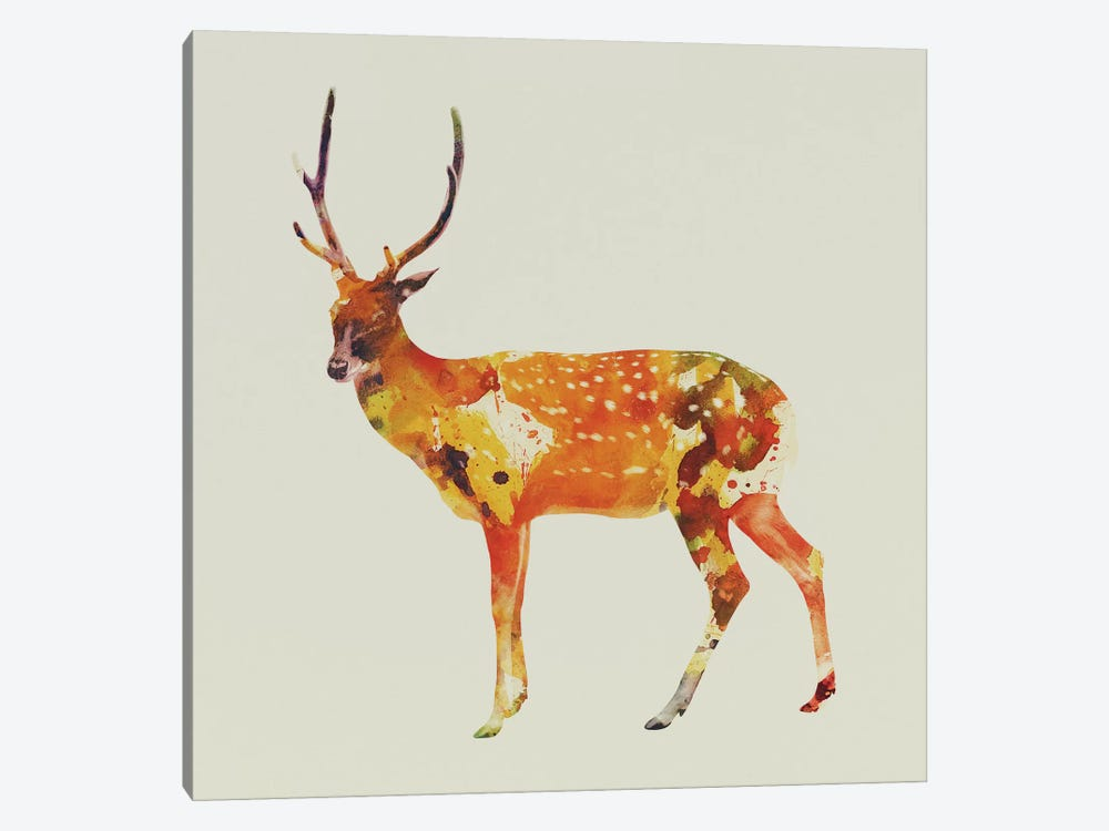 Deer II by Andreas Lie 1-piece Canvas Artwork