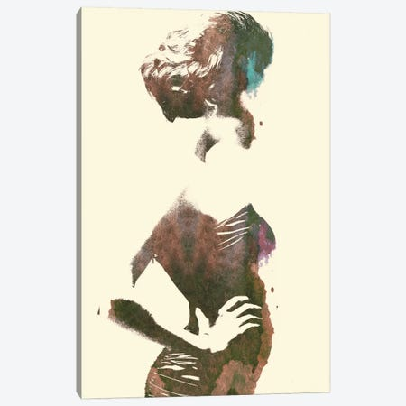 Her Silhouette Canvas Print #ALE43} by Andreas Lie Canvas Art