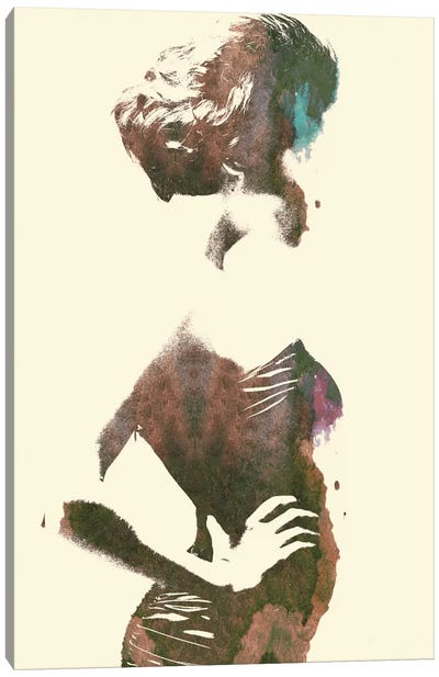 Her Silhouette Canvas Print #ALE43
