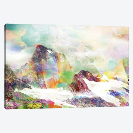 Glitch Mountain Canvas Print #ALE55} by Andreas Lie Canvas Wall Art