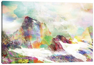 Glitch Mountain Canvas Art Print