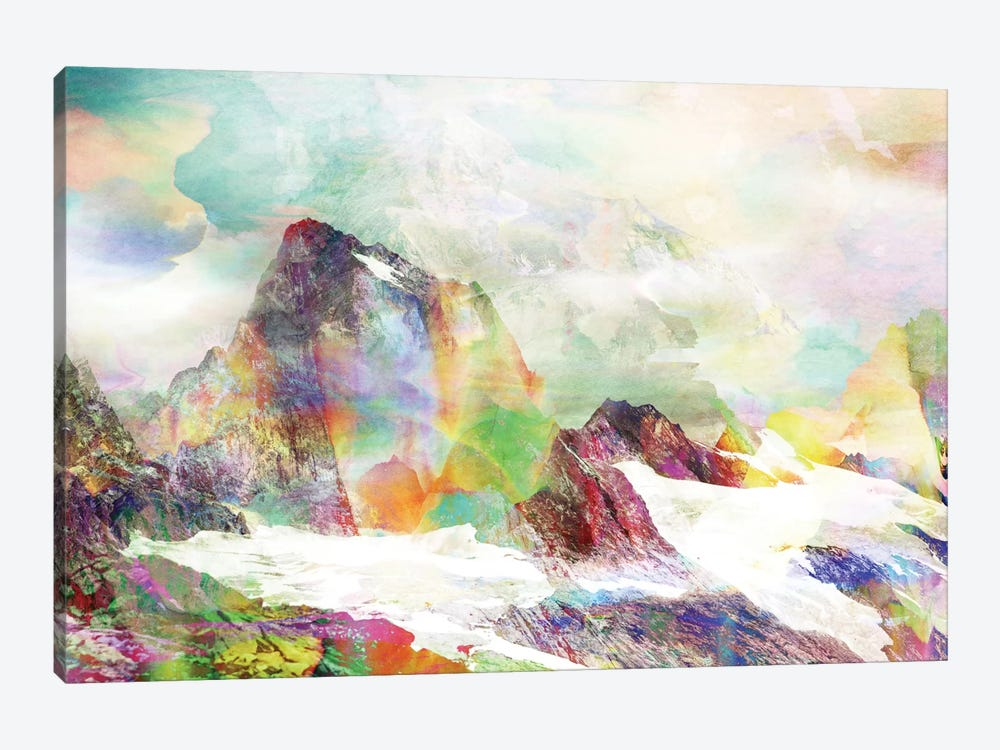 Glitch Mountain by Andreas Lie 1-piece Art Print
