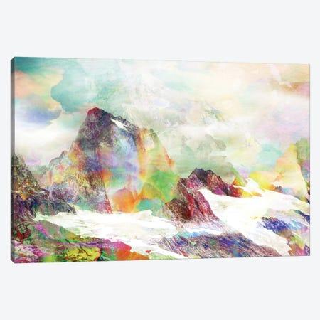 Glitch Mountain Canvas Print #ALE55} by Andreas Lie Canvas Wall Art