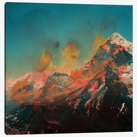 Mountain Splash Canvas Print #ALE57} by Andreas Lie Canvas Artwork