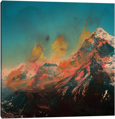 Mountain Splash Canvas Art Print