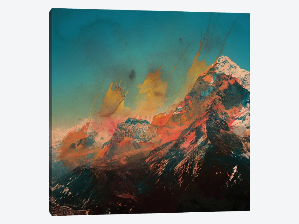 Mountain Splash by Andreas Lie 1-piece Canvas Art Print