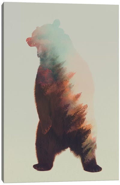 Roaring Bear Canvas Art Print
