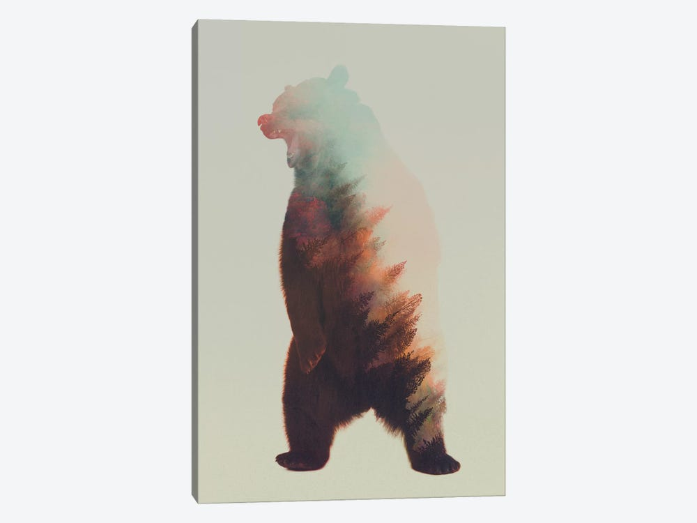 Roaring Bear by Andreas Lie 1-piece Canvas Art