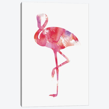 Flamingo Canvas Print #ALE64} by Andreas Lie Art Print