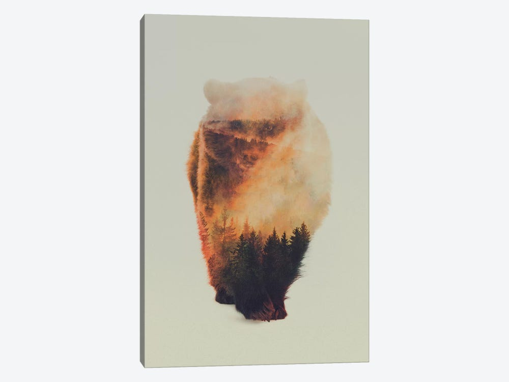 Approaching Bear by Andreas Lie 1-piece Art Print