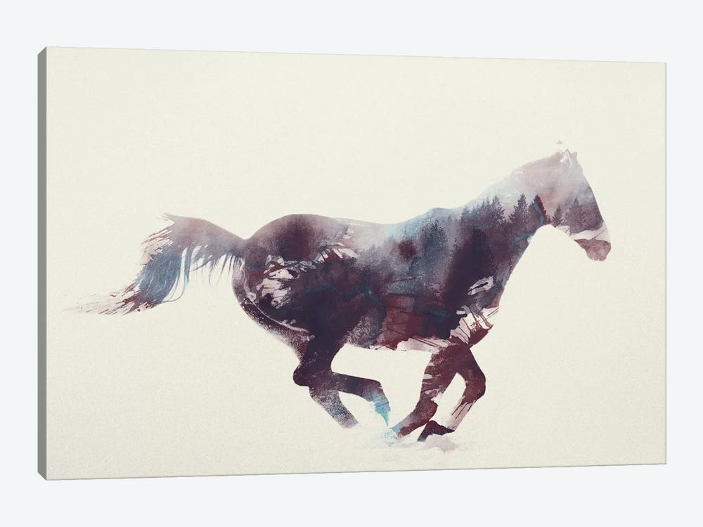 Horse I by Andreas Lie 1-piece Canvas Artwork
