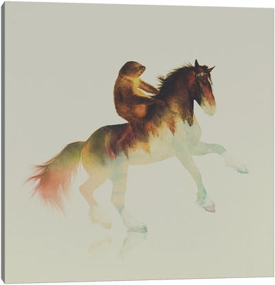 On The Horse Canvas Print #ALE70