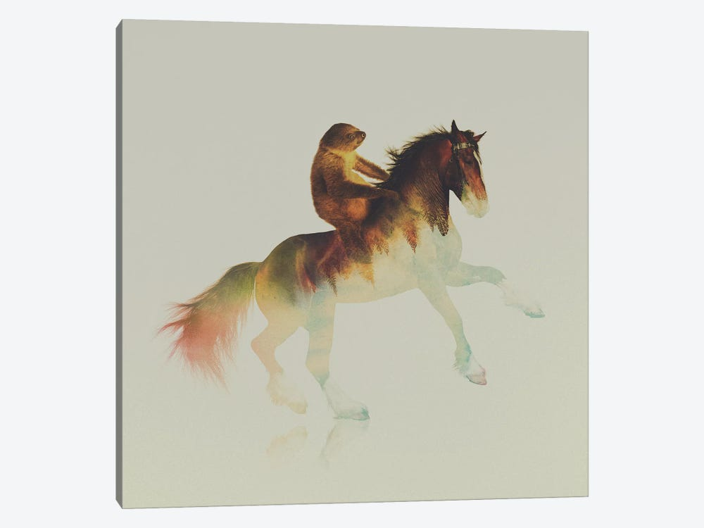 On The Horse by Andreas Lie 1-piece Canvas Art