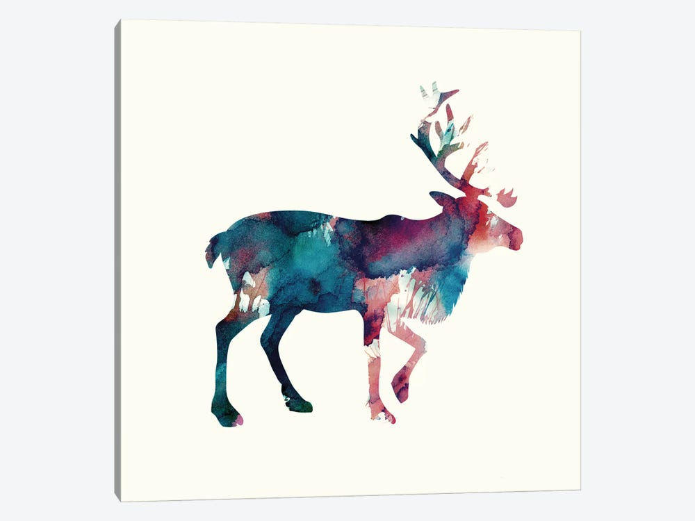 Reindeer II by Andreas Lie 1-piece Canvas Art