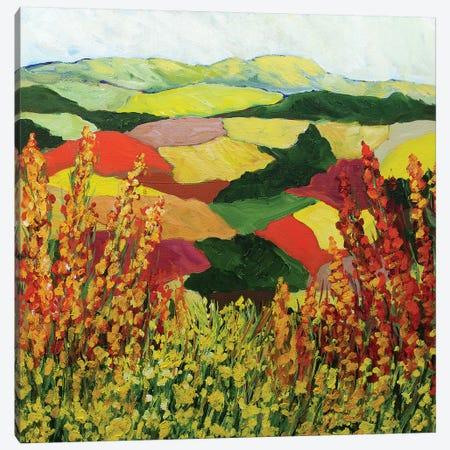 Red Blend 3-Piece Canvas #ALF13} by Allan Friedlander Canvas Wall Art