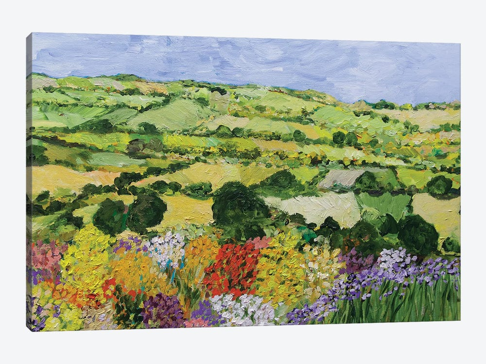 Garden on the Hilltop 1-piece Canvas Print