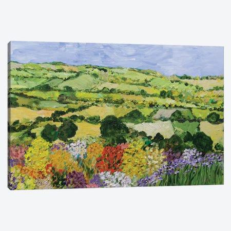 Garden on the Hilltop Canvas Print #ALF31} by Allan Friedlander Canvas Wall Art